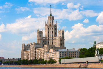 Moscow, Stalin-era building on Kotelnicheskaya Embankment