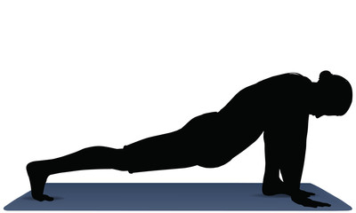 vector illustration of Yoga positions in Low Lunge Pose