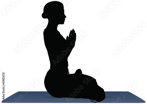 vector illustration of Yoga positions in Lotus Pose