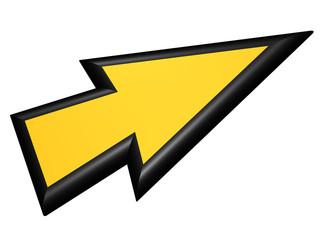 Black and yellow arrowhead