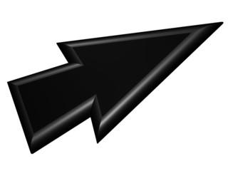 Black arrowhead