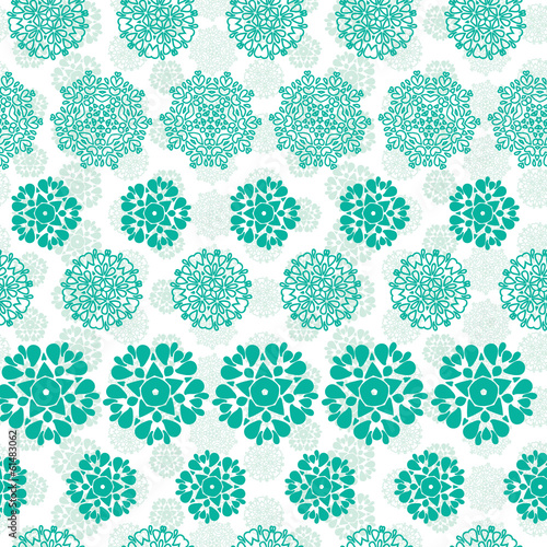 Vector abstract green decorative circles stars striped seamless