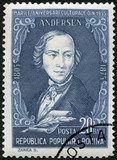 ROMANIA - 1955: shows Hans Christian Andersen (1805-1875)