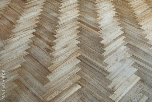 "Old parquet with the pattern ""fir-tree"""