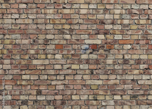 Background of old vintage brick wall close up