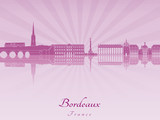 Bordeaux skyline in purple radiant orchid