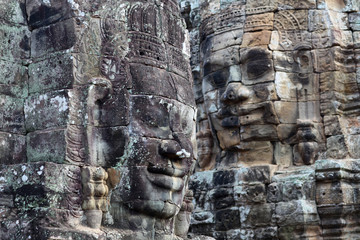 Bas-relief at the Upper terrace of Prasat Bayon, Cambodia