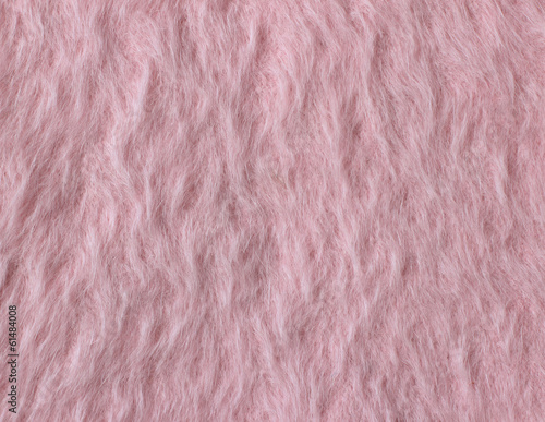 Texture of soft pink fleecy fabric (angora woolen cloth)