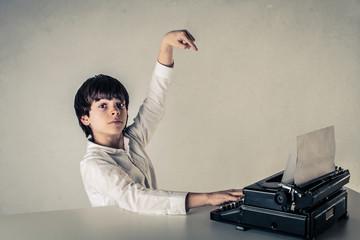 typing kid