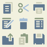 Document web icons money color set