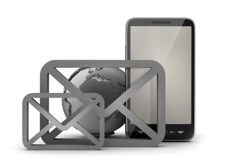Mobile internet - concept illustration