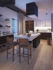 Kitchen in a modern style