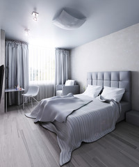 Interior modern bedroom