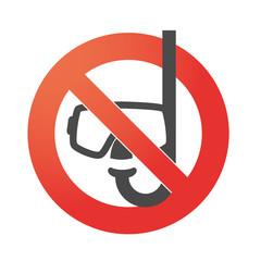 Forbidden signal with an icon