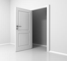 Raum mit offener Tür