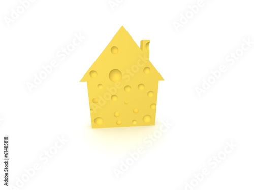 House of cheese. Concept - eco house.