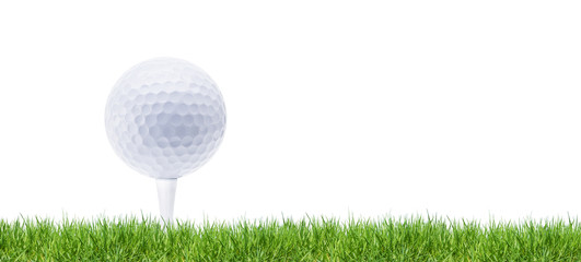 Golfball im Green