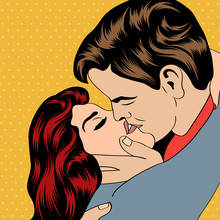 Pop Art Couples de baiser