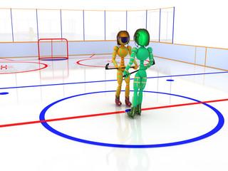 Hockey stadium with hockey  #10