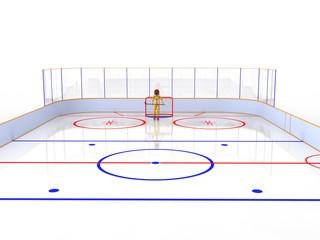Hockey stadium with hockey #7