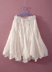 white puffy skirt
