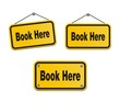 book here - yellow signs