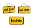 book online - yellow signs