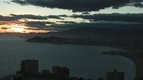 Benidorm bay sun set time lapse