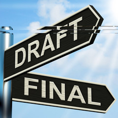 Draft Final Signpost Means Writing Rewriting And Editing
