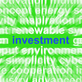 Investment Word Means Lending And Investing For Return