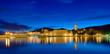 canvas print picture - Trogir Kroatien  Panorama beleuchtet