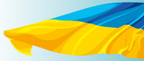 The national flag of the Ukraine