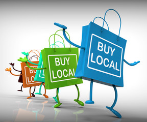 Buy Local Bags Represent Neighborhood Business and Market