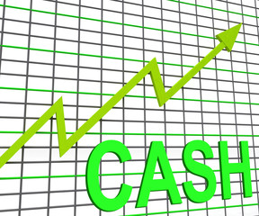 Cash Chart Graph Shows Increase Wealth Money Currency