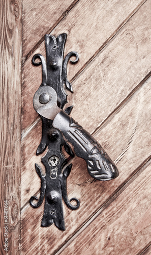 Old metal door handle.