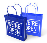 We're Open Bags Show Grand Opening or Launch