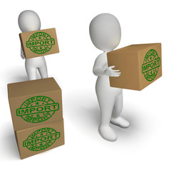Import Boxes Show Importing Goods and Merchandise