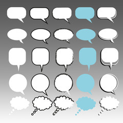 Communication Bubbles Collection of 25 different styles