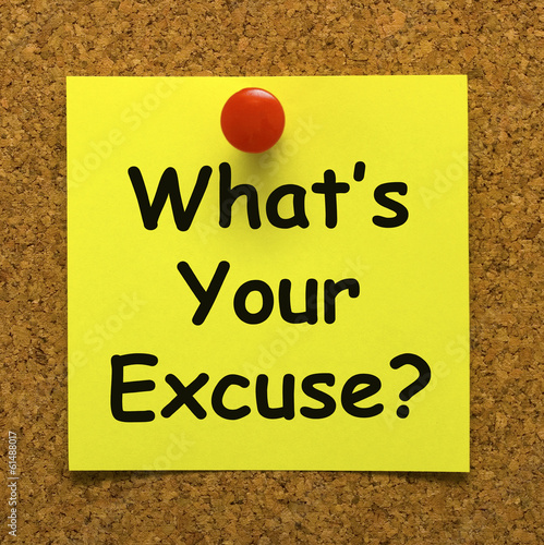 What's Your Excuse Means Explain Procrastination