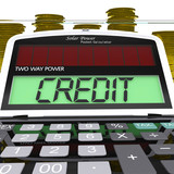 Credit Calculator Means Loan Money And Financing