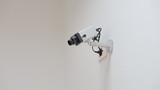CCTV security camera,white background