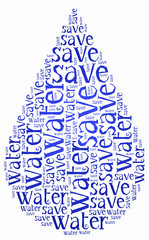 Word cloud World Water Day or water saving related