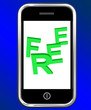 Free On Phone Shows Freebie Gratis and Promotion