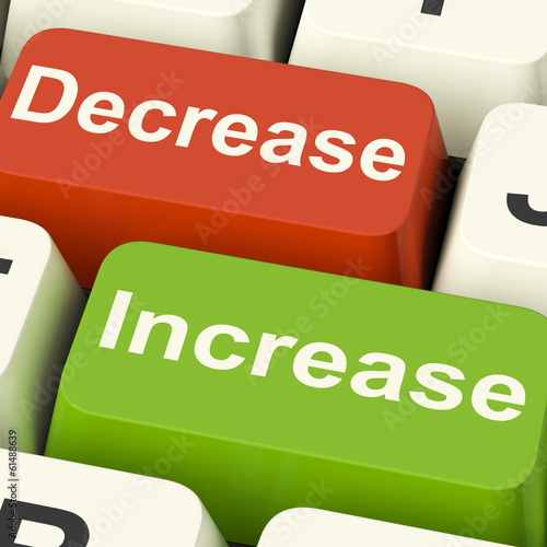 Decrease Increase Keys Shows Decreasing Or Increasing