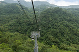 Maokong cable car above a hilly landscape in Taipei