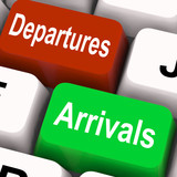 Departures Arrivals Keys Mean Travel And Vacation