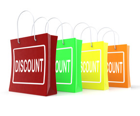 Discount Shopping Bags Means Cut Price Or Reduce