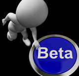 Beta Button Shows Software Testing And Development