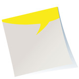 post-it,reminder,speech ballon,vector,yellow,free