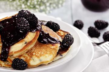 Pancakes and Blackberries